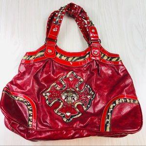 Red leopard print Miss Me handbag purse